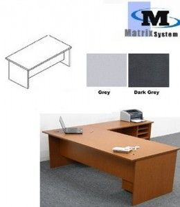 FOX Writing Table; FO188 (Grey D/G)