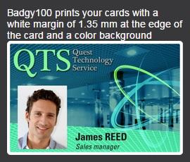 badgy 100 sample card