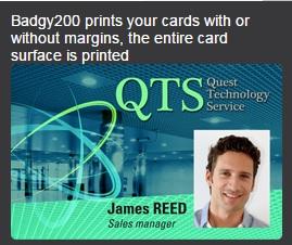 badgy 200 sample card