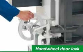 handwheel door lock