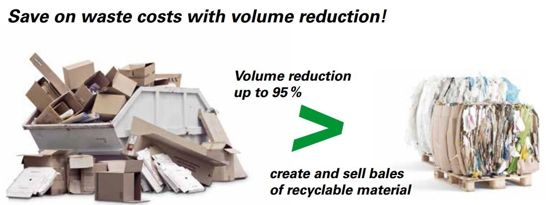 volume reduction up to 95%
